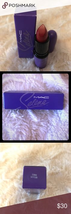 🆕 Selena MAC lipstick 🆕 Never been used Selena MAC 'Como La Flor' lipstick💄 Beautiful shade of red. Limited edition. MAC Cosmetics Makeup Lipstick