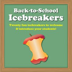 Back-to-School Icebreakers! These 20 icebreaker activities provide great ideas for learning about your new students and enabling interactive and engaging introductions. All are classroom-tested and loved by students, and many can be used throughout the year! $