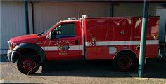 Rescue 63 - Cal Fire Butte Unit Brush Truck, Wildland Firefighter, Station 1, Fire Equipment, Fire Apparatus, Evening Sandals, Emergency Vehicles, Firefighting, Go Kart