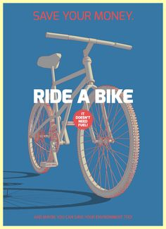 """Save your money, ride a bike"" Riccardo Sabatini"