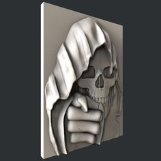3d STL models for CNC skull Stl File Format, Wood Wall Decor, Cnc Machine, Cnc Router, Skull Art, Coding, Etsy, Modelos 3d, Third