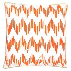 Allem Studio Chevron Orange Pillow @Zinc_Door