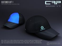 Cap Brand with HUD Customer Gift by Neurolab Inc - Teleport Hub Cyberpunk, Lab, Mesh Cap, Mesh Material, Second Life, Free, Unisex, Gifts, Labs