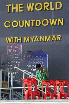 Chegada de 2013 - MYANMAR - Cerca de 50 mil pessoas são esperadas no pagode de Shwedagon, nesta que será a primeira celebração com fogos de artifícios de Mianmar, demonstrando o processo de abertura do país após décadas sob o poder de uma junta militar. Foto: AFP.
