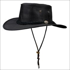6f7506dd308 1057BL Barmah Canvas Drover -Black Barmah Hats