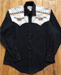John Denver Vintage T-Bird Embroidered Western Shirt