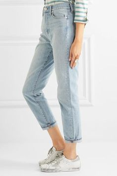 Madewell - The Perfect Summer High-rise Straight-leg Jeans - Light blue - 28