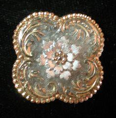 Quatrefoil Glass Button
