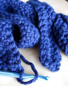 project infinity scarf  - good for beginners  ... Now I just need to learn to crochet....
