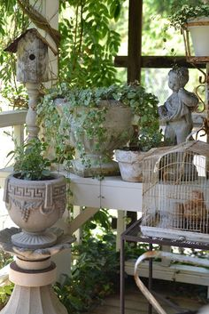 Trendy Bird Houses In Garden Cottages Shabby Chic Outdoor Rooms, Outdoor Gardens, Outdoor Living, Outdoor Decor, Garden Art, Garden Design, Garden Sheds, Herb Garden, Vegetable Garden