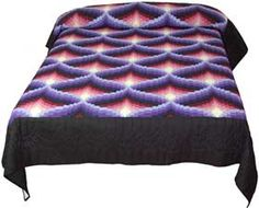 Light in the Valley Copyrighted Queen Quilt in Purple