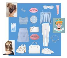 """""""Cinderella Inspired"""" by mikaeladichoso on Polyvore featuring Sandy Liang, Topshop, Lipsy, adidas, Michael Kors, Garrett Leight, Skinnydip, Disney, Vivienne Westwood and Lime Crime"""