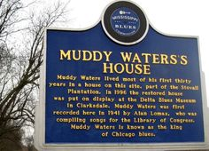 Marker for Muddy Waters, Mississippi Blues Trail