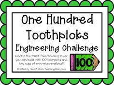 Hundred Toothpicks: Engineering Challenge Project ~ Great STEM Activity! One Hundred Toothpicks: Engineering Challenge Project ~ GrOne Hundred Toothpicks: Engineering Challenge Project ~ Gr 4th Grade Science, Stem Science, Middle School Science, Science Labs, Science Lessons, Teaching Science, Stem Challenges, Engineering Challenges, Stem Learning