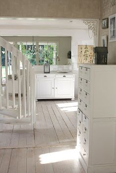 rustic white floors