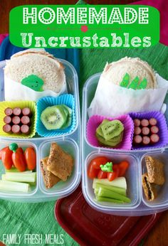 #Homemade #Uncrustables for Lunch  Packed in #EasyLunchboxes