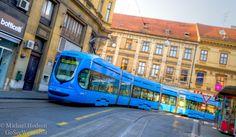 Streetcar trams in Zagreb, Croatia