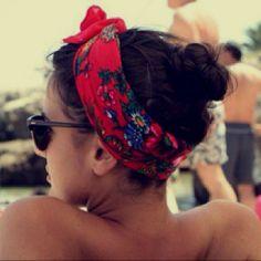 Beach look.
