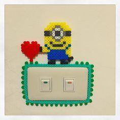 Minion light switch frame perler beads by starmiti