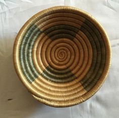 "Christmas give away ideas/ 7"" basket/ interior design/ Rwanda basket/ Wall basket/ African  wall decor/ Basket art/ Wall decor vintage art"