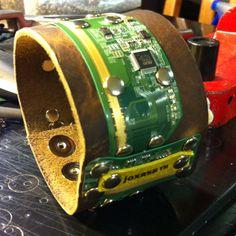 Custom joxasa cuff made with lab top screen circuitry