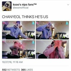Chanyeol's reaction to a shirtless lay! God I love him!