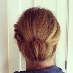 Rolled chignon.  Wedding hair.  Bridal hair.  Hair by Heather Chapman.