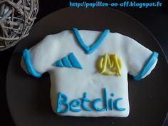 Papilles on/off: Gâteau maillot de foot OM en pâte à sucre (pas à p...
