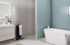 2212 HG F05 Aquamarine og 3091 HG F01 Denver White (1) Home Improvement, Basement Laundry Room, Interior Designers, Bathroom, Color, Bathtub, Laundry Room, Bath, Wall Systems