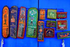 Bluewalled souvenir shop with colorful items. Greek Art, Greece, Inspiration, Islands, Homeland, Colorful, Shop, Greece Country, Biblical Inspiration
