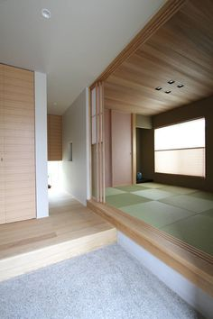 Natural Interior, Japanese Interior, House Entrance, House Plans, Garage Doors, Windows, Outdoor Decor, Projects, Room