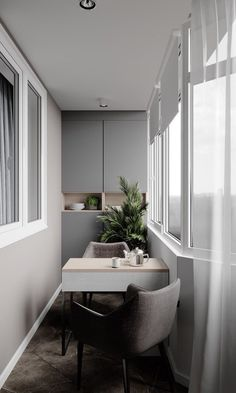 Smart Idea of Turning a Small Balcony Into a Mini Cafe and Bar Interior Balcony, Balcony Design, Room Interior, Interior Design Living Room, Interior Decorating, Small Home Offices, Small Apartments, Home Room Design, House Design