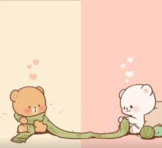 - Milk and mocha - Bear Wallpaper, Kawaii Wallpaper, Love Wallpaper, Love Cartoon Couple, Cute Love Cartoons, Cute Bear Drawings, Kawaii Drawings, Cute Love Gif, Cute Cartoon Wallpapers
