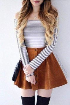 24 super cute outfits to wear to school for girls this fall Outfits 2019 Outfits casual Outfits for moms Outfits for school Outfits for teen girls Outfits for work Outfits with hats Outfits women Trendy Summer Outfits, Cute Teen Outfits, Teen Fashion Outfits, Cute Fashion, Pretty Outfits, Cute Outfits With Skirts, Winter Outfits, Girly Girl Outfits, Casual Dresses For Teens