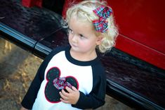 Special Edition Christmas Mickey Mouse/Minnie Mouse appliquéd shirt for Holiday Party.