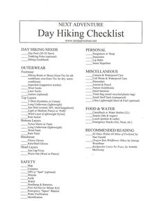 Ultra-light Backpacking List - a Must! http://hike-a-tot.tumblr ...