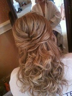 Half up-do with loose curls/waves-I like this because it can be formal or casual.
