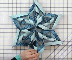 Large Fabric Snowflake Tutorial