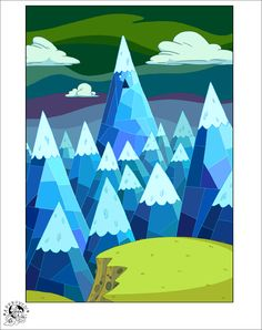 Ice mountain color scheme and pattern