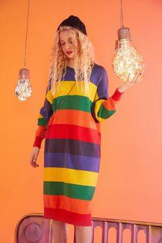 Bold Fashion, Colorful Fashion, Korean Fashion, Vintage Fashion, Colourful Outfits, Cool Outfits, Clueless Outfits, Funky Dresses, Professional Outfits