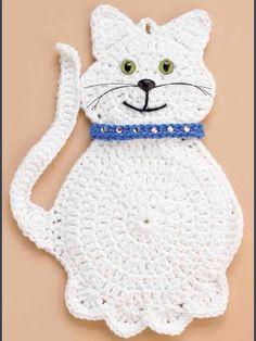 Snowball the cat pattern de Marianne Bruneau - Nese - . - Snowball the cat pattern de Marianne Bruneau – Nese – # Patrón de gato # Mariann - Crochet Applique Patterns Free, Crochet Cat Pattern, Cat Applique, Crochet Motif, Crochet Stitches, Cross Stitches, Loom Patterns, Knitting Patterns, Crochet Gifts