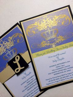 Custom Royalty-Themed Baby Shower Invitations