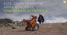 Esteban Quispe - Este joven indígena autodidacta ha creado el Wall-E boliviano, hecho completamente de basura