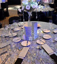 One of the many gorgeous table settings we have done for clients.