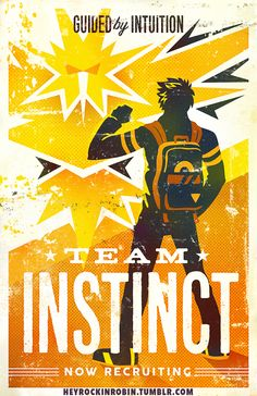 Pokemon Go Team Instinct Poster - $15