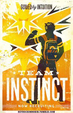 "Support+Team+Instinct! Printed+on+11x17""+matte+light+cardstock."
