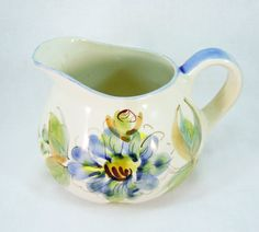 Vintage Hand Painted Pitcher by RichardsRarityRealm on Etsy
