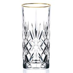 Lorren Home Trends Siena Collection Crystal Water Beverage or Ice Tea Glass with Gold Band Design, Set of 4 - http://teacoffeestore.com/lorren-home-trends-siena-collection-crystal-water-beverage-or-ice-tea-glass-with-gold-band-design-set-of-4/