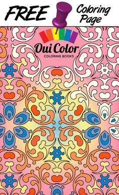 #Free #Regal #ColoringPage from Oui Color Coloring Books #mandalas #adultcoloring #adultcoloringpage #coloringbook #pattern