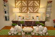 Dining room Spring Decor.  http://buhayatbahay.blogspot.com/2013/03/our-egg-cellent-easter-decor_24.html